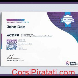Corso eLearnSecurity - eCDFP (Certified Digital Forensics Professional)